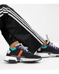 1c65611860bf4 adidas Originals Swift Run Sneakers In Pink Multi in Black - Lyst