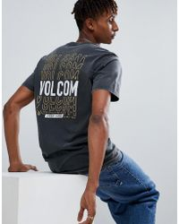 Volcom - T-shirt With Repeat Logo Back Print - Lyst