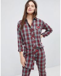 Esprit - Checked Night Shirt - Lyst