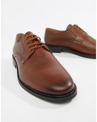 KG by Kurt Geiger - Kg By Kurt Geiger Embossed Derby Shoes In Tan - Lyst