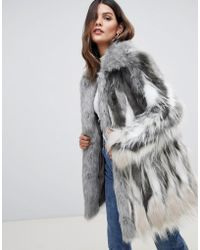 Urbancode - Faux Fur Coat With Collar - Lyst