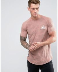 Bee Inspired - Muscle Fit T-shirt In Pink Suedette - Lyst 55edf05cd391