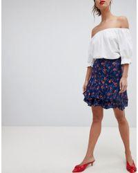 Esprit - All Over Floral Print Mini Skirt - Lyst