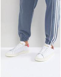Lyst adidas Originals Originals blanco y negro corte Vantage