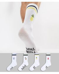 Jack & Jones - 4 Pack Socks With Mixed Slogans - Lyst