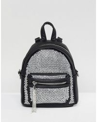 ALDO - Backpack With Crystal Studding Detail And Tassels - Lyst