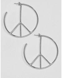 Cheap Monday - Peace Hoop Earring - Lyst