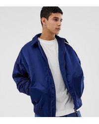 Collusion - Oversized Padded Harrington Jacket In Navy - Lyst