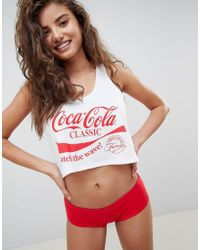 ASOS - Design Coca Cola Tank & Pant Pyjama Set - Lyst
