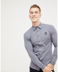 c684a3e4 Gym King - Long Sleeve Jersey Shirt In Dark Gray - Lyst