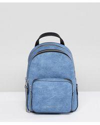 Juicy Couture - Denim Mini Zippy Backpack - Lyst