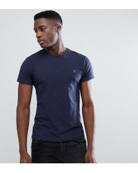 Farah - T-shirt With F Logo Muscle Fit Exclusive - Lyst