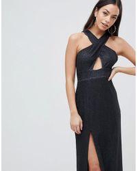 AX Paris - Cross Front Maxi Dress With Side Split - Lyst