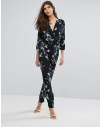 Lipsy - Floral Printed Jumpsuit - Lyst