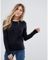 Oasis - Ribbed Crew Neck Sweater - Lyst