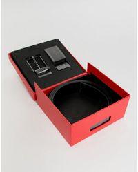 HUGO - Gino Reversible Black Gift Box Belt In Black - Lyst