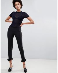 UNIQUE21 - Tailored Trouser With Ruffle Hem - Lyst