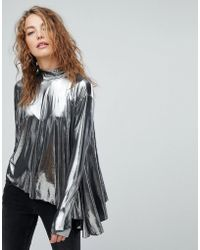 Weekday - Metallic Asymmetrical Top - Lyst