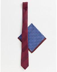 cb9d72c58b9bd ASOS Design Wedding Braces & Bow Tie Set In Herringbone And Plain ...