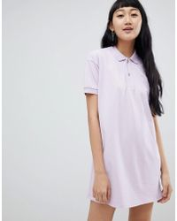 Pull&Bear - Rugby Dress In Colourblock Lilac - Lyst
