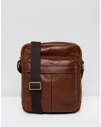 Fossil - City Flight Bag In Leather - Lyst