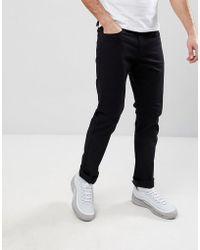 Armani Exchange - J13 Slim Fit 5 Pocket Stretch Jeans In Black - Lyst