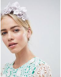 ASOS - Design Crystal And Pearl Floral Headband - Lyst
