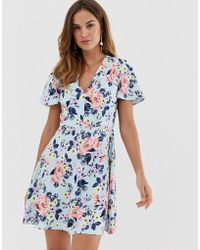 French Connection - Armoise Floral Flippy Mini Dress - Lyst