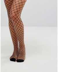 Vero Moda - Fishnet Tights - Lyst