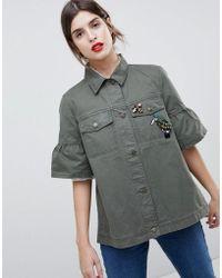 Esprit - Utility Short Sleeved Jacket - Lyst
