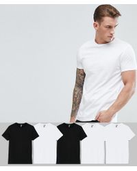 ASOS DESIGN - Crew Neck T-shirt 5 Pack Save - Lyst
