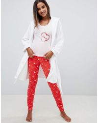Lipsy - Love Kiss Pyjama Set - Lyst