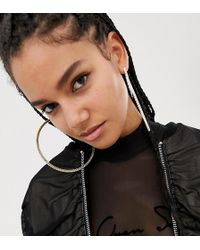 ASOS - X Laquan Smith Oversized Hoop Earrings With Swarovski Crystals - Lyst