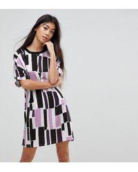 Noisy May Petite - Graphic Print T-shirt Dress - Lyst