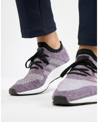 adidas Originals - Swift Run Primeknit Trainers In Purple Cq2896 - Lyst
