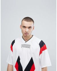 PUMA - Heritage Football T-shirt In White 57499802 - Lyst