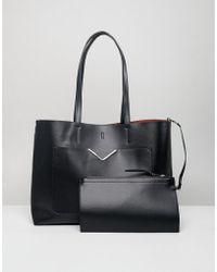 ASOS - Design Front Pocket Shopper Bag With Removable Clutch - Lyst