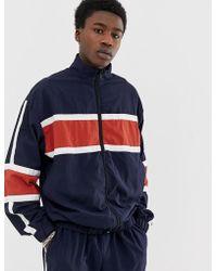 Adidas Originals Adicolor Tnt Tape Wind Track Jacket In Blue Br2277 for men