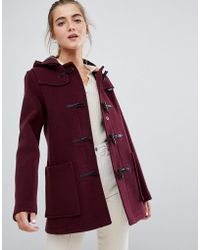 Gloverall - Mid Panelled Duffle Coat With Hood - Lyst