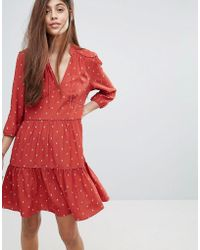 Whistles - Maggie Fleur De Lis Print Dress - Lyst