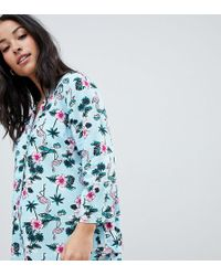 ASOS - Asos Design Maternity Flamingo Conversational Short Pajama Set - Lyst