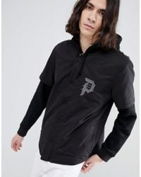 Primitive - Two-fer Baseball Layered Hoodie In Black - Lyst