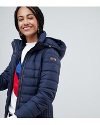 Esprit - Short Padded Jacket With Hood In Navy - Lyst