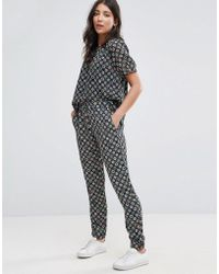 French Connection - Medina Tile Print Joggers - Lyst