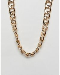 ASOS DESIGN - Necklace With Heavyweight Link Chain In Gold - Lyst