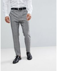 Stradivarius - Slim Fit Chino With Stripe In Grey - Lyst