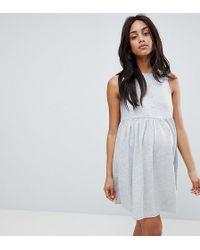 ASOS - Asos Design Maternity Sleeveless Button Smock Dress - Lyst