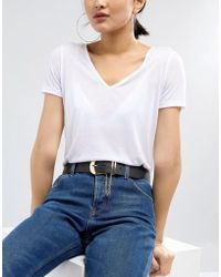 ASOS - Jeans Belt With Chain Detail In Water Based Pu - Lyst