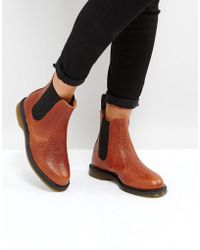 Dr. Martens - Kensington Flora Chestnut Chelsea Boots - Lyst