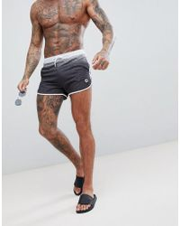 Hype - Runner Swim Shorts In Black Speckle Fade - Lyst